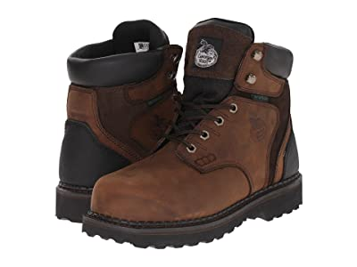 Georgia Boot Brookville 6 Steel Toe Waterproof (Dark Brown) Men