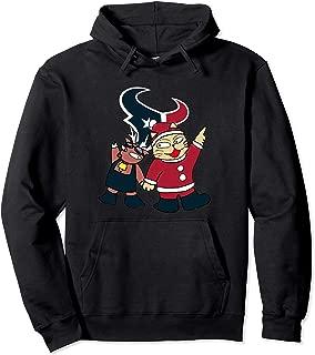 Christmas Reindeer And Cat Fan Football Houston-Texan Pullover Hoodie