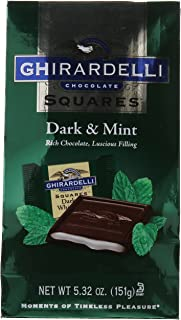 Ghirardelli Dark and Mint Squares Stand Up Bag, 5.32 Ounce