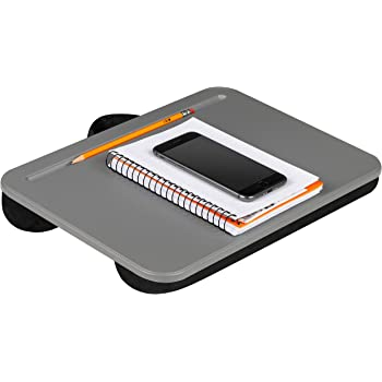 LapGear Compact Lap Desk - Charcoal - Fits Up to 13.3 Inch Laptops - Style No. 43105