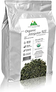 USDA Organic Gynostemma Tea - Jiaogulan Tea - Whole Leaf - World friendly tea - Freshest production in every month - Caffe...