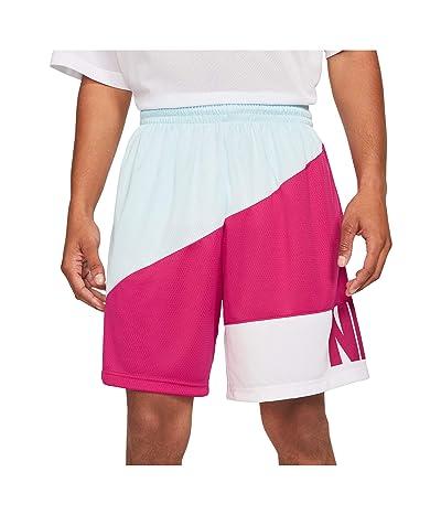 Nike Dry Starting5 Asymmetric Shorts (Glacier Blue/Fireberry/White/Fireberry) Men