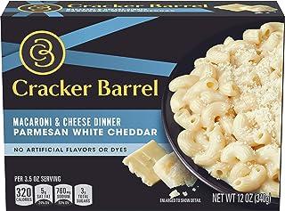 Cracker Barrel Parmesan White Cheddar Macaroni & Cheese Dinner, 12 oz (Pack of 12)