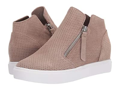 Steve Madden Caliber Wedge Sneaker (Taupe Suede) Women