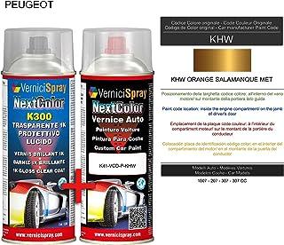 Kit Spray Pintura Coche Aerosol KHW ORANGE SALAMANQUE MET - Kit de retoque de pintura carrocería en spray 400 ml producido...