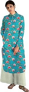RADANYA Floral Printed Chinese Collar Full Sleeve Ethnic Kurti Kurta for Women