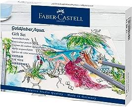 Faber Castell Goldfaber Aqua 114614 Watercolour Pencils Gift Set 12 Colouring Pencils Including Fineliner, Pencil, Watercolour Pad, Sharpener, Eraser and Watercolour Brush