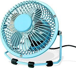 Small Desk Fan Ultra-Quiet Design Desktop Mini Fan with 360 Rotation Portable USB Powered Cooling Fan for Home & Office (B...