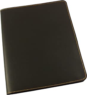 Refillable Leather Composition Notebook by Rustic Ridge - Leather Notebook Cover - Composition Book Cover (Black)