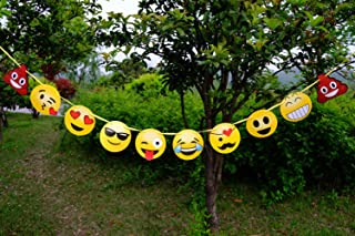 Emoji Banner Emoticon Party Decorations Birthday Snack Decorations Picks Suppliers Party Accessories for Wedding Baby Shower