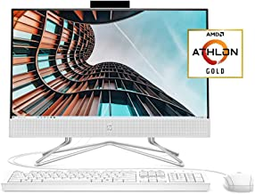 HP 22 All-in-One PC, AMD Athlon Gold 3150U Processor, 4...