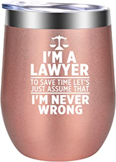 I am a Lawyer - Lawyer Gifts, Law Gifts for Women - Law School Gifts, Attorney Gifts, Law Student Graduation Gifts - Best Lawyer Birthday, Christmas Gift for Lawyers - GSPY Lawyer Mug Wine Tumbler Cup