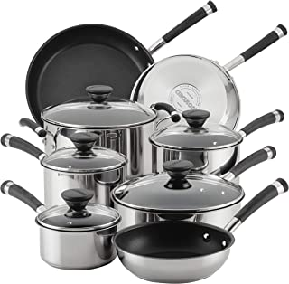Circulon 70514 Acclaim Stainless Steel Cookware Pots and Pans Set, 13 Piece
