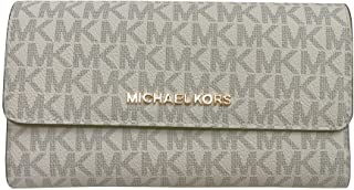 Michael Kors Jet Set Travel Large Trifold Leather Wallet