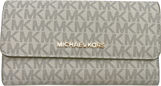 Michael Kors Jet Set Travel Large Trifold Leather Wallet