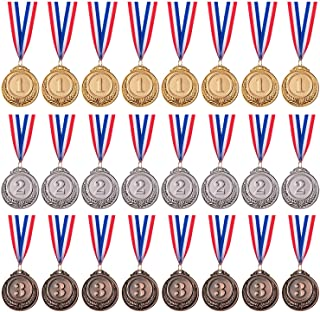 Favide 24 Pieces Gold Silver Bronze Award Medals-Winner Medals Gold Silver Bronze Prizes for Competitions, Party,Olympic S...
