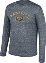 Top of the World NCAA Men's Iowa Hawkeyes Team Color Hearitage Tri-blend Long Sleeve Tee Graphite Heather X Large