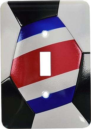 3dRose lsp_181216_1 Balón de fútbol de Costa Rica – Interruptor de palanca individual