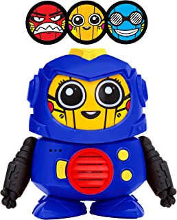 Power Your Fun Tok Tok Voice Changer Robot Toys - Mini Talking Robots for Kids with 3 Robot Voices and Faces, for Ages 3 and Up (Blue)