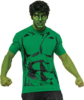 Rubie's Men's Marvel Universe Hulk Adult Costume T-Shirt and Eye Mask, Multi, Large