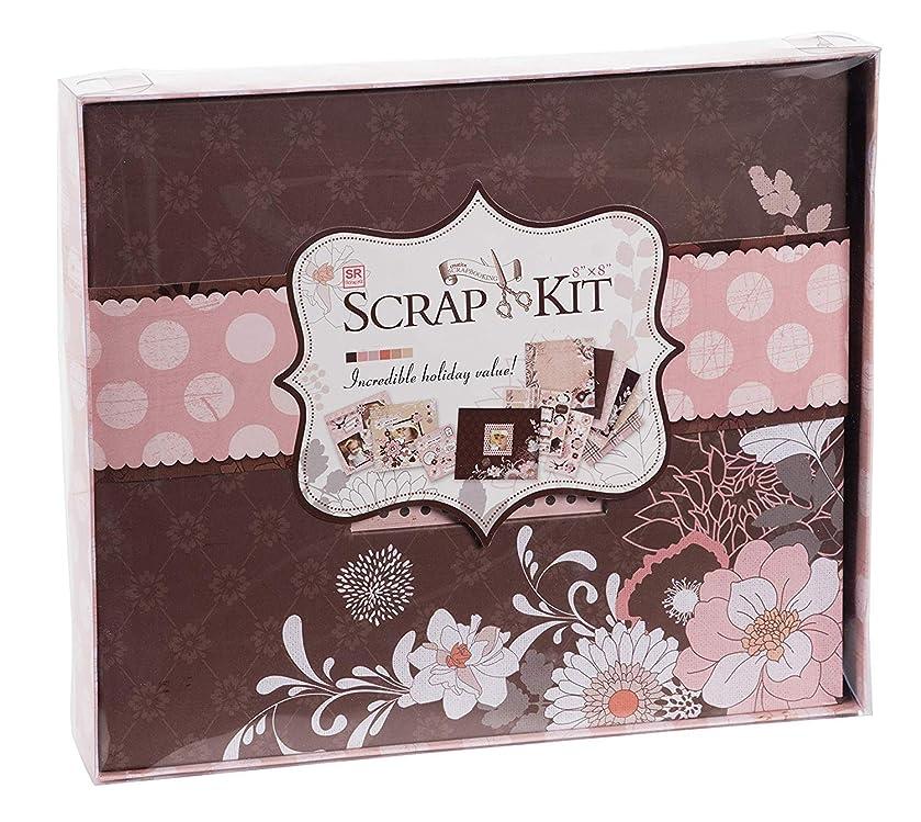 DIY Scrapbook Kit Photo Album - Dusty Pink, 10.63 x 9.13 x 1.38 Inches