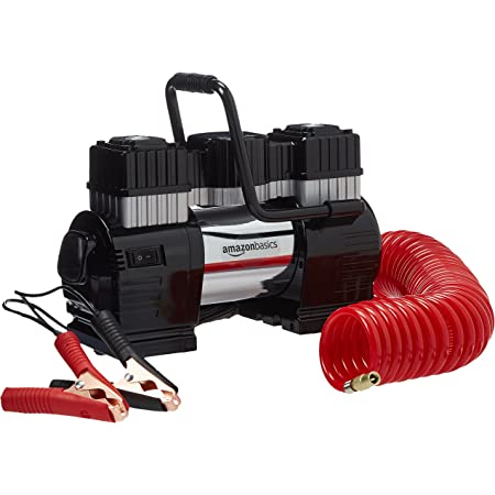 Amazon Basics Portable Air Compressor, Dual Battery Clamps with Carrying Case