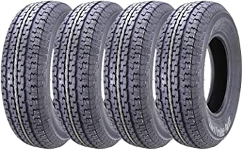 Set of 4 New WINDA Premium Trailer Tires ST 205/75R14 8PR Load Range D Steel Belted Radial w/Feautred Scuff Guard