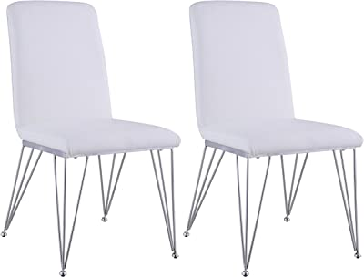Amazon.com: leisuremod Calvert – Side silla con patas ...