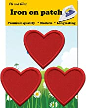 Iron On Patches - Red Heart Patch 3 pcs Iron On Patch Embroidered Applique A-53