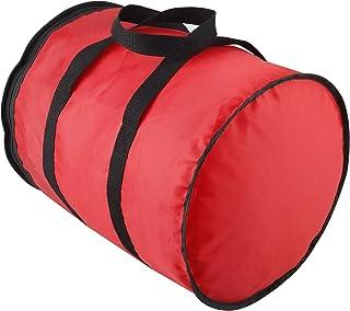 Pumpumly Bolsa de almacenamiento con asa para adornos navideños, color rojo