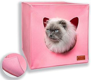 AVEELO Katzenhöhle aus Filz mit Anti-Rutsch Boden Katzenbox passend für IKEA Regal Kallax und Expedit mit herausnehmbaren Kissen Katzenhaus Filzhöhle für Katzen und kleine Hunde Katzenkorb