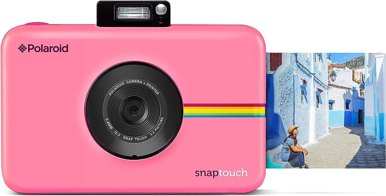 Polaroid Snap Touch - Cámara digital con impresión instantánea y pantalla LCD con tecnología Zero Zink rosa