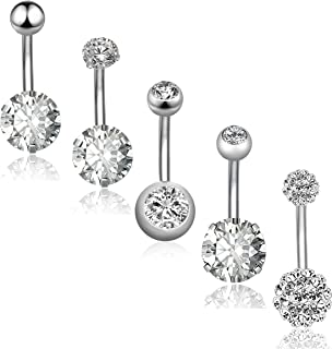 Best cute sparkly belly button rings Reviews