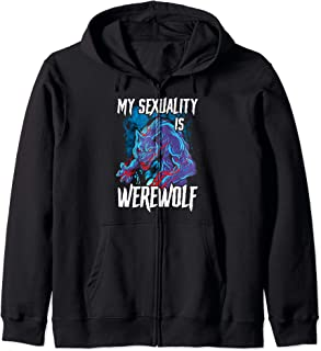 Gay Pride Halloween Lgbt My Sexuality Is Werewolf No Labels Zip Hoodie