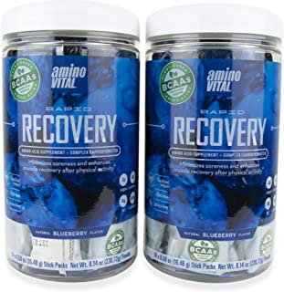 Amino VITAL Rapid Recovery - Fermented Vegan BCAAs Amino Acid Powder + Complex Carbohydrates   Reduce Muscle Soreness   Tw...