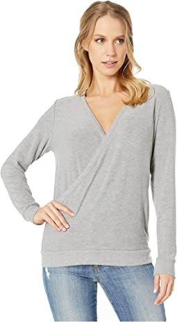 Cozy Knit Long Sleeve V-Neck Pullover