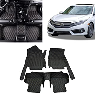 Toryea All Full Surrounded Floor Liner All Weather Waterpoof Anti-Slip Fit Honda Civic 20162017 2018 2019