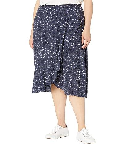 Madewell Plus Size Ruffle Midi Skirt