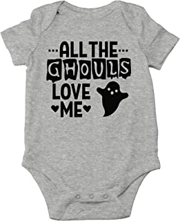 All The Ghouls Love Me - Baby Boy Halloween One-Piece Infant Romper Bodysuit Baby Halloween Costumes