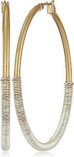 """Robert Lee Morris""""Spun Metal"""" Two-Tone Wire Wrapped Hoop Earrings"""