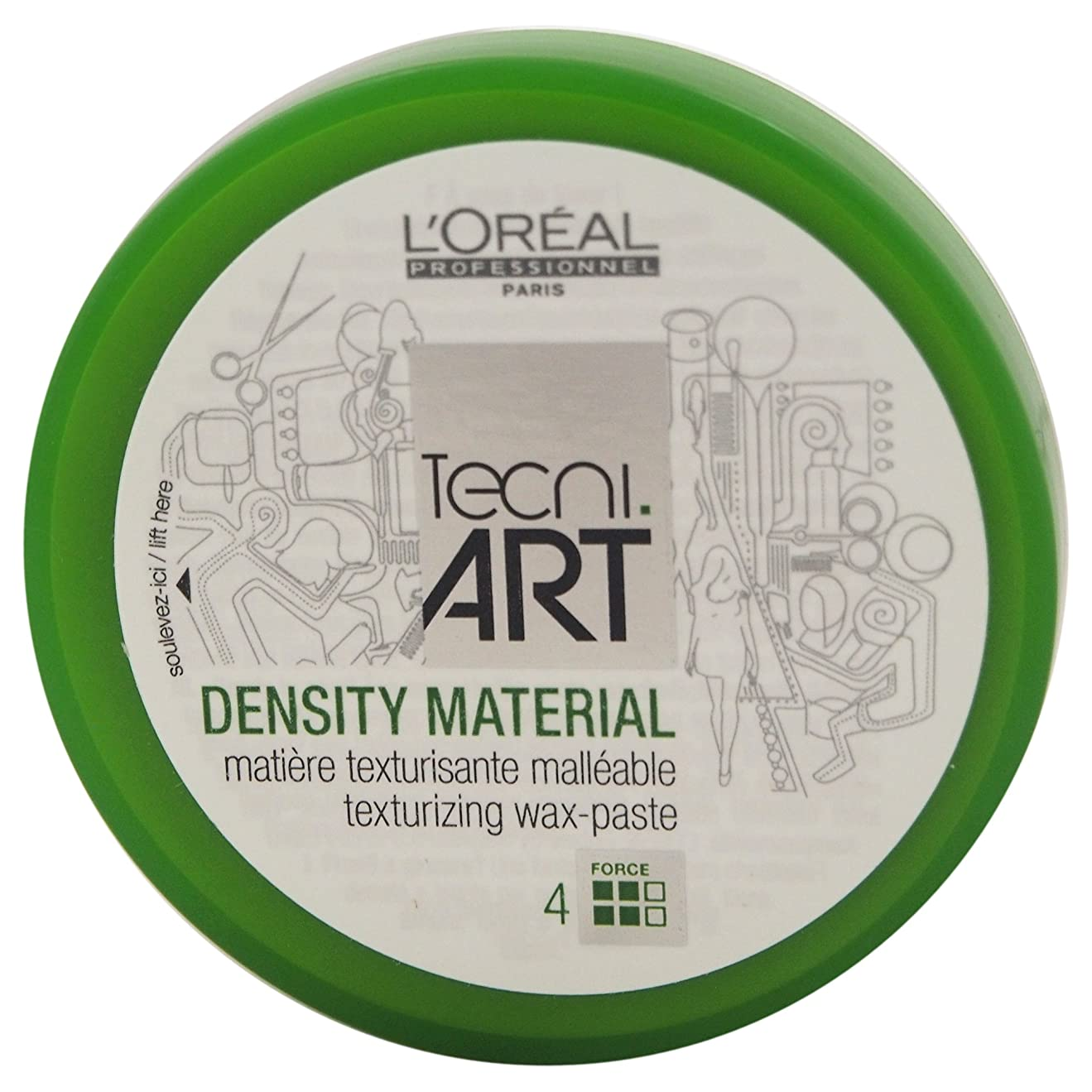 差別的回答促進するLoreal Tecni Art Density Material Force 4 Texturizing Wax Paste 100ml [並行輸入品]