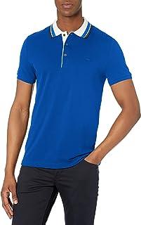 Men's Short Sleeve Slim Fit Semi Fancy Collar Polo Shirt
