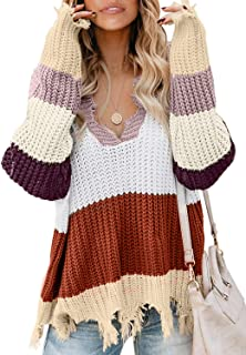 Best distressed knit sweater Reviews
