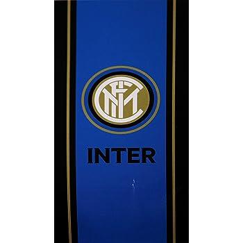 tex family Telo Mare Sport Inter Misura Grande Cm 90 X 170 Originale Internazionale con Zaino PORTATELO