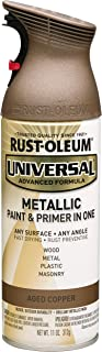 Rustoleum 249132 Universal Metallic 11 oz Spray Paint, Aged Copper