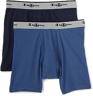 Champion Men's Double Dry Activefit 2-Pack Boxer Brief, Blue, Small