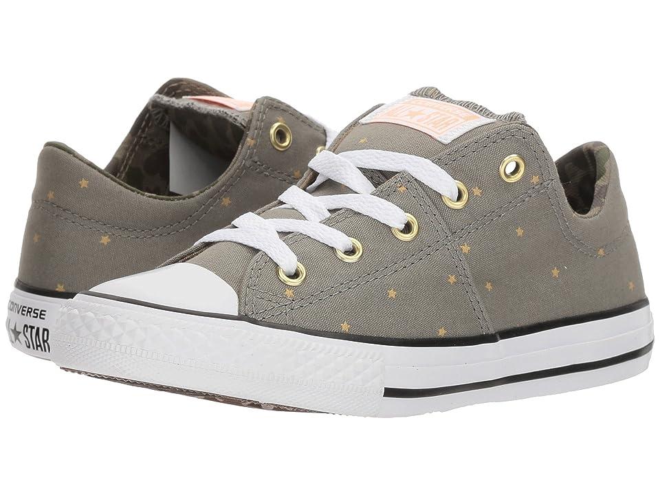 Converse Kids Chuck Taylor All Star Madison Ox (Little Kids/Big Kids) (Dark Stucco/Khaki/White) Girls Shoes