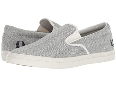 Fred Perry Underspin Slip-On Printed Canvas (Porcelain/Navy) Men