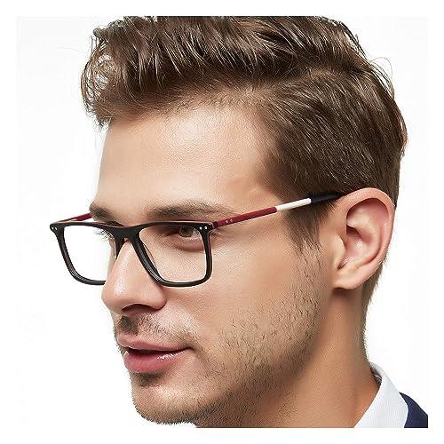 1b8d87bd1d7 OCCI CHIARI Non-Prescription Eyewear Frame Clear Eyeglasses Men Optical  Glasses Blue Light Blocking