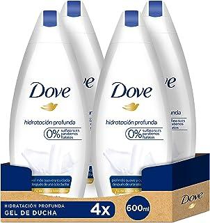 Dove Gel de ducha Hidratación profunda - Pack de 4 x 600 ml (Total: 2400 ml)